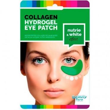 Beauty Face - Parches de colágeno hidratantes y blanqueantes para el contorno de ojos con PEPINO Y ALGAS