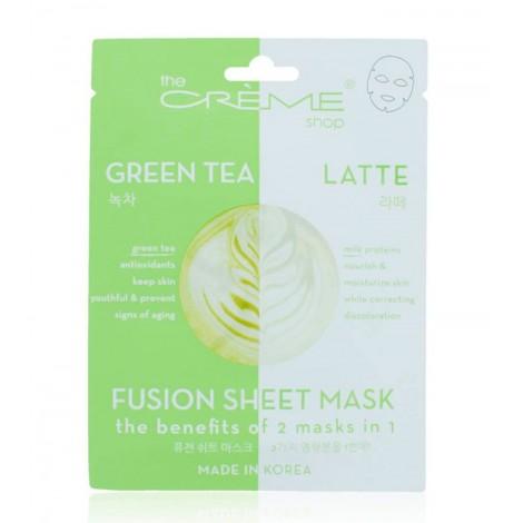 The Créme Shop - Mascarilla Fusion Sheet Mask - Té verde y leche