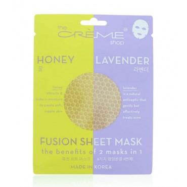 The Créme Shop - Fusion Sheet Mask - Mascarilla Miel y lavanda
