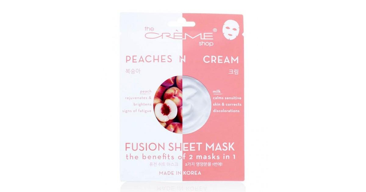 The Créme Shop - Mascarilla Fusion Sheet Mask - Melocotón y leche