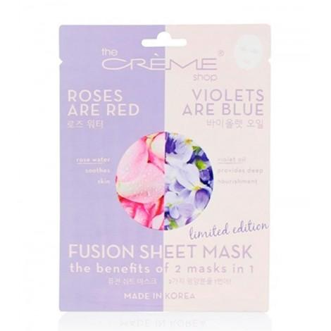The Créme Shop - Mascarilla Fusion Sheet Mask - Agua de rosas y violetas