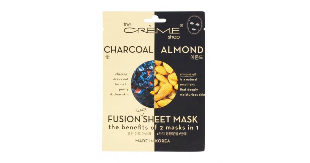 The Créme Shop - Mascarilla Fusion Sheet Mask - Carbón y aceite de almendras