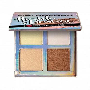 L.A Colors - Paleta de rostro Beauty Booklet Hi-lite & Bronzer - C30507 Luminous