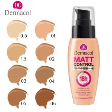 Dermacol - Base de maquillaje matificante Matt Control 18H - 0.5