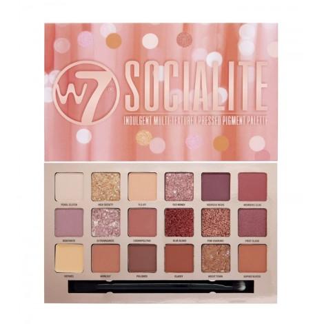 W7 - Paleta de sombras Socialite