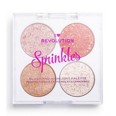 I Heart Revolution- Paleta de coloretes e iluminadores Sprinkles - Ice Cream Sundae