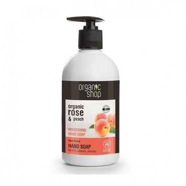 Organic Shop - Melocoton Rosa - Jabón Organico de Manos