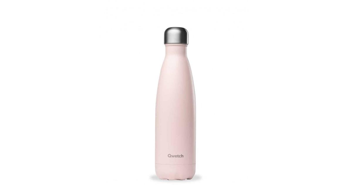 Qwetch - Botella Isotérmica Acero Inoxidable 500ml - Rosa Pastel