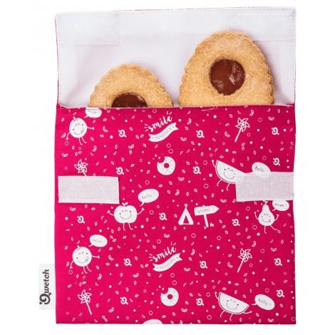 Qwetch - Bolsa porta snacks reutilizable - Zero Waste Kids - Magenta