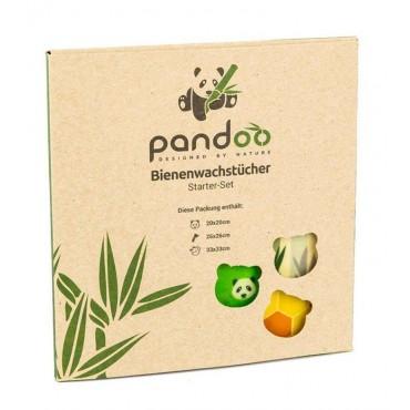 Pandoo - Papel de envoltorio reutilizable Set de 3