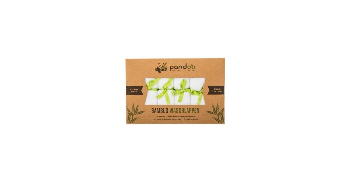 Pandoo - Toallitas BAMBU Pack 6 - Piel Sensible - Hipoalergénica