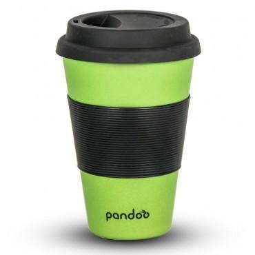 Pandoo - Vaso de Café para llevar de bambú - Verde