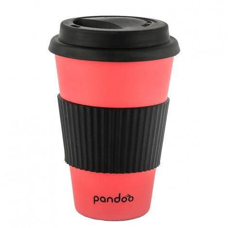 Pandoo - Vaso de Bambú - Rojo