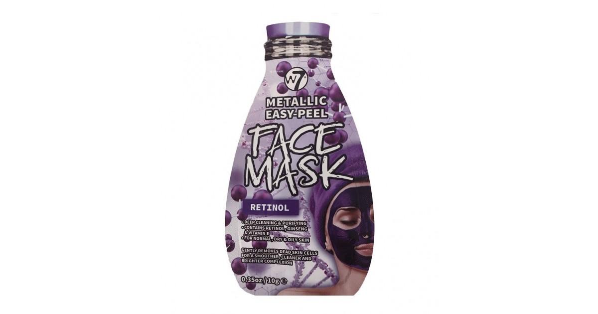 W7 - Mascarilla facial metálica - Retinol