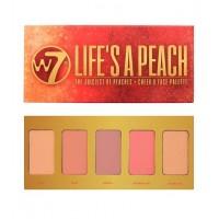 W7 - Paleta de coloretes Life's A Peach Blusher