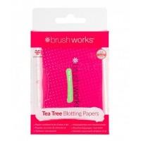Brushworks - Papeles matificantes de Arbol de Té