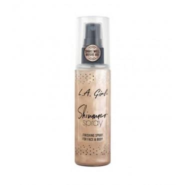L.A. Girl - Spray de acabado para rostro y cuerpo - Shimmer Spray - 80 ml
