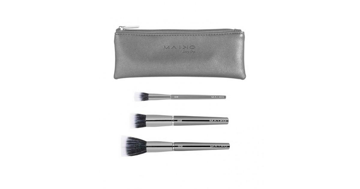Maiko - Set de 3 brochas Duo pack Luxury Grey