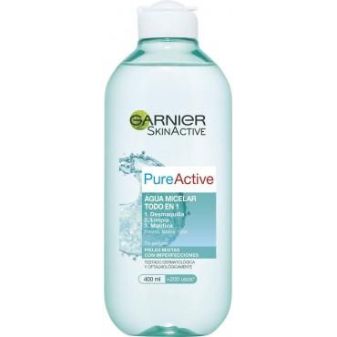 Garnier - PURE ACTIVE - Agua Micelar pieles mixtas a grasas y sensibles - 400 ml