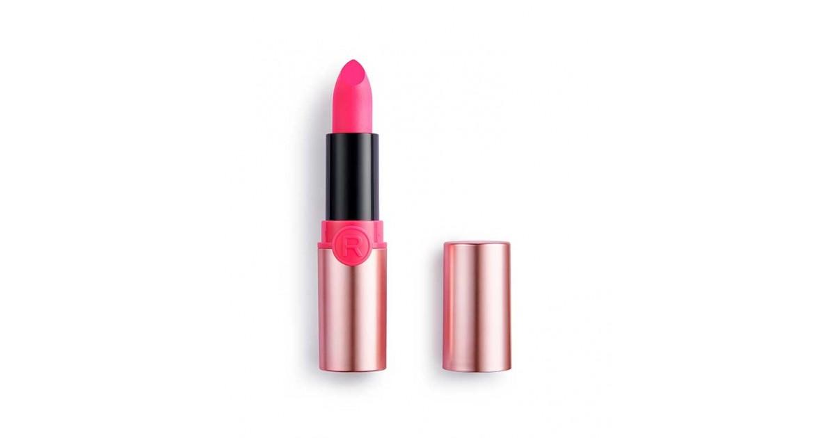 Revolution - Barra de Labios Powder Matte Lipstick - Flamingo