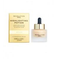 Revolution Pro - Iluminador líquido Highlighting Potion - Gold Elixir