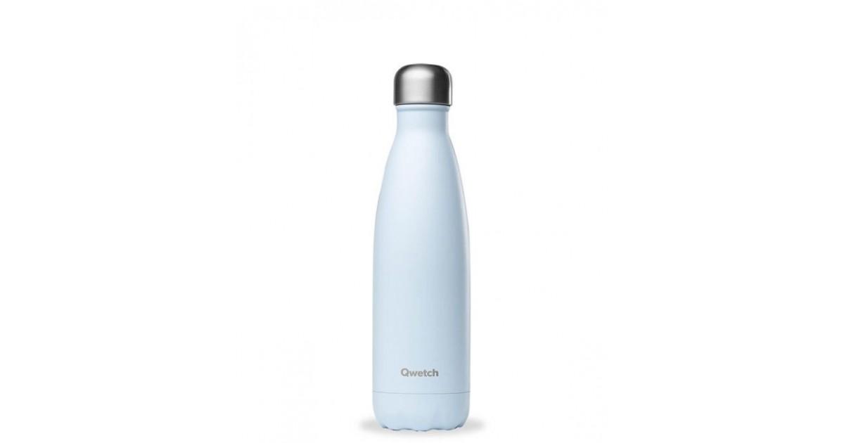 Qwetch - Botella Isotérmica Acero Inoxidable 500ml - Azul Pastel