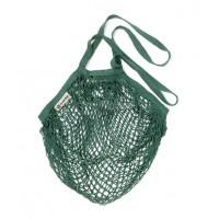 Turtle Bags - Bolsa de Algodón Ecológico de Red con asa larga - Verde