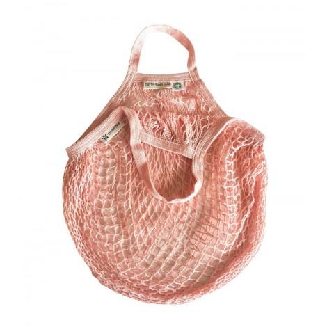 Turtle Bags - Bolsa de red con asa corta - Rosa