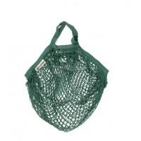Turtle Bags - Bolsa de Algodón Ecológico de Red con Asa Corta- Verde