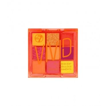 W7 - Paleta de pigmentos prensados Vivid - Outrageous Orange