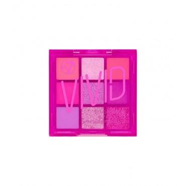 W7 - Paleta de pigmentos prensados Vivid - Punchy Pink