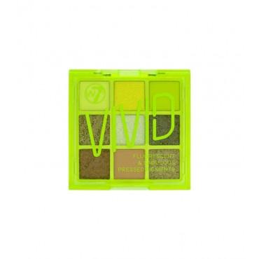 W7 - Paleta de pigmentos prensados Vivid - Glowin' Green