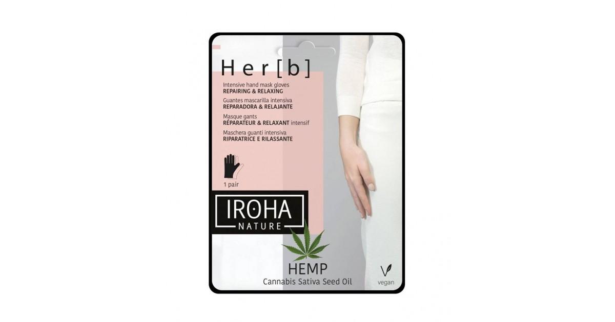 Iroha Nature - *Hemp* - Mascarilla facial tisú intensiva - Nutritiva y relajante
