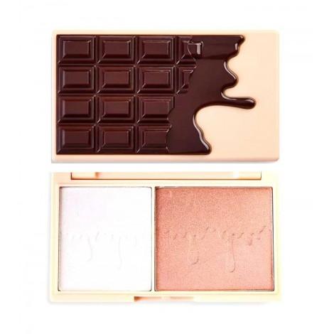 I Heart Revolution - Paleta de iluminadores Chocolate Mini - Fondue