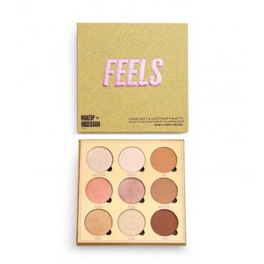 Makeup Obsession - Paleta de iluminadores y contorno Feels