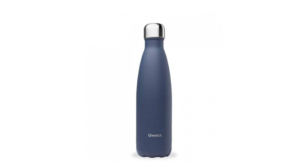 Qwetch - Botella Isotérmica Acero Inoxidable 500ml - Azul Granito