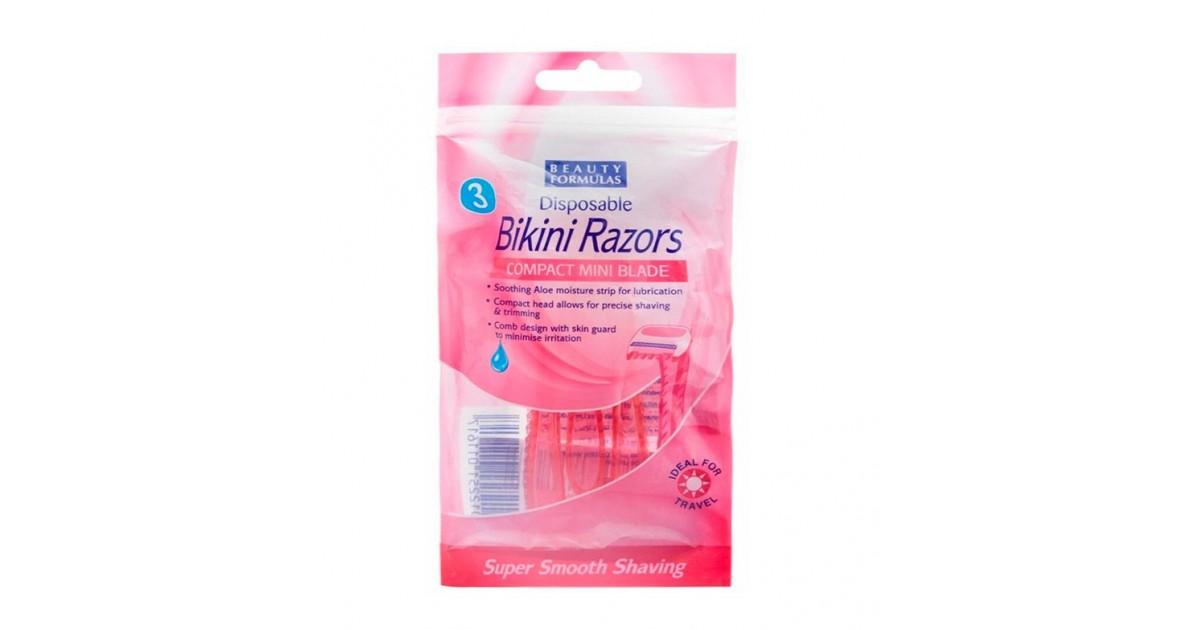 Beauty Formulas - 3 Maquinillas Desechables para zona Bikini