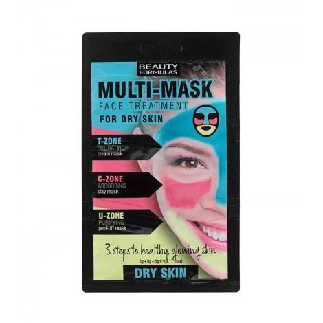 Beauty Formulas - Mascarilla Multi Mask Face Treatment - Piel Seca
