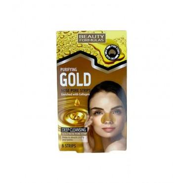 Beauty Formulas - Tiras limpiadoras de poros - Gold