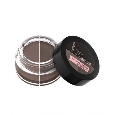 Catrice - Pomada para cejas con dos tonos 3D Brow - 020: Medium to dark