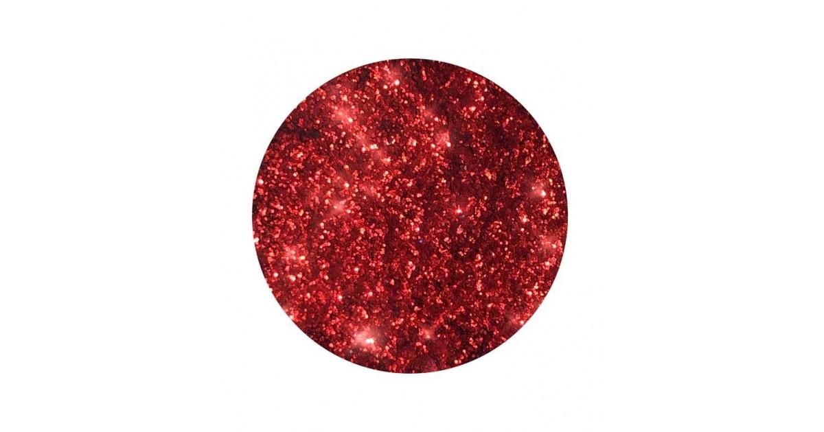With Love Cosmetics - Glitter prensado - Berry Red