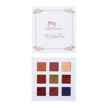 With Love Cosmetics - Paleta de sombras y glitter prensado - The Natural One