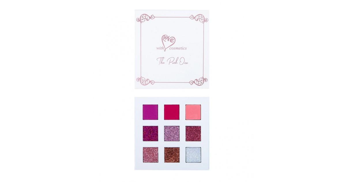 With Love Cosmetics - Paleta de sombras y glitter prensado - The Pink One