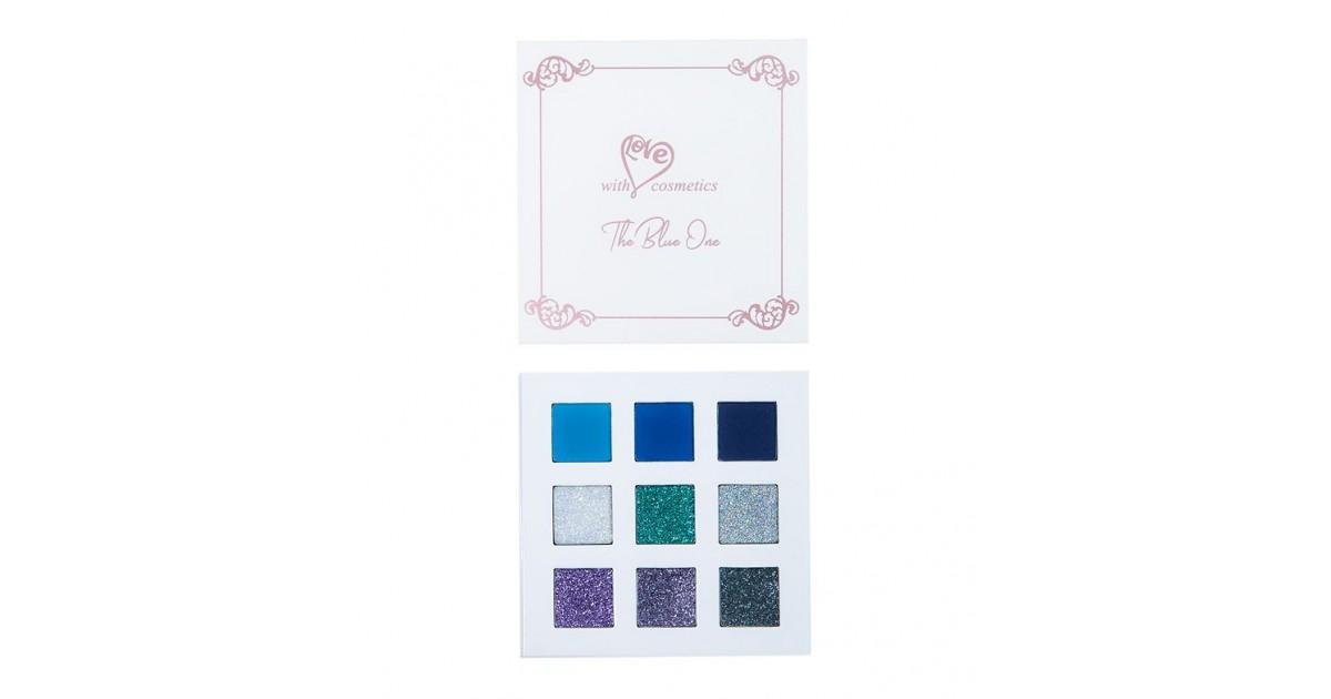 With Love Cosmetics - Paleta de sombras y glitter prensado - The Blue One