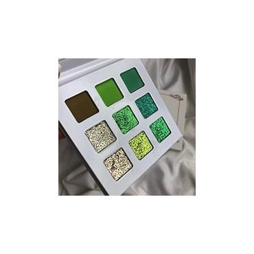 With Love Cosmetics - Paleta de sombras y glitter prensado - The Green One