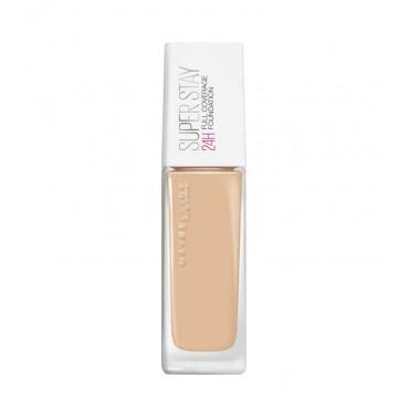 Maybelline - Base de Maquillaje SuperStay 24H Cobertura Total - 21: Nude Beige