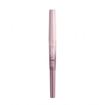 Lovely - Perfilador de labios + labial Ombre Lips - 1: Rose Dust