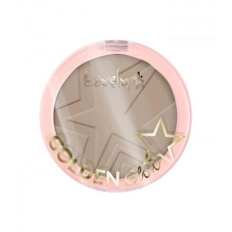 Lovely - Polvos compactos Golden Glow - 3: Cool Brown