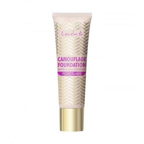 Lovely - Base de maquillaje Camouflage foundation Matte & full coverage - 1 Porcelain