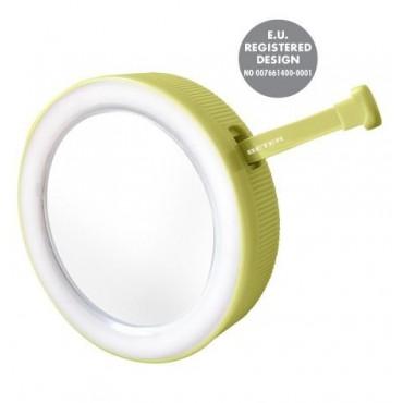 Beter - Espejo doble con pinza de depilar y luz LED - Verde